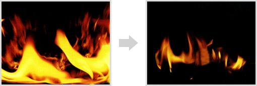 燃えない、燃え広がらない